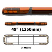 ECCO 13 Series R65 LED 16 Module Lightbar (1250mm) - Amber/Amber