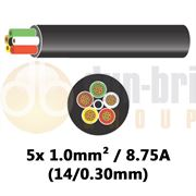 DBG 5 Core Thinwall PVC Automotive Cable 5x 32/0.20 1.0mm² 16.5A - 100m - 540.4502HT/100B