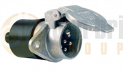 Menbers 24V 7-Pin 'N' Type Aluminium Socket with Screw Terminals - 005809.00