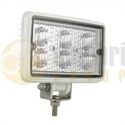 LED Autolamps 7451 Rectangular 6-LED 540lm Work Flood Light White 12/24V - 7451WM