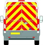Ford Transit (2014 - Present) - BACK - Full Chevron Kit - Medium Roof