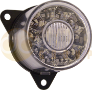 Perei/LITE-wire 55 Series (55mm) Round LED REAR FOG Light CLEAR Fly Lead 12/24V - RF102SZZ-5-2-AA