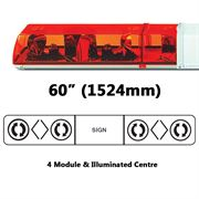 ECCO 70 Series R65 Rotator 4 Module Lightbar (1524mm) - Amber