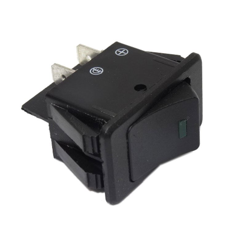 DBG 270.147G 12V Rectangular ON/OFF Rocker Switch with GREEN LED - Pack of 1