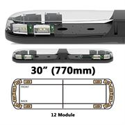 ECCO 13 Series R65 LED 12 Module Lightbar (770mm) - Amber/Clear