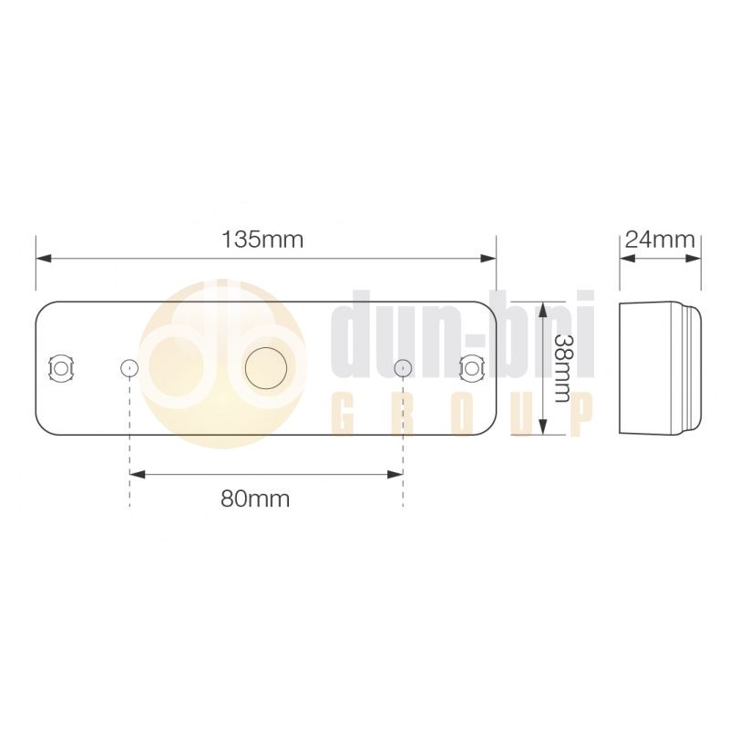 LED Autolamps 135 Series LED Front Marker / Indicator Lamp Surface Mount