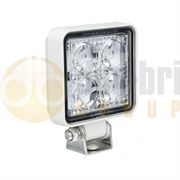 LED Autolamps 7312 Compact Square 4-LED 489lm Reverse/Work Flood Light White 12/24V - 7312WM