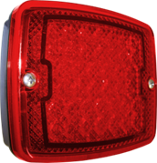 Perei/LITE-wire 1200 Series (137mm) Rectangular LED STOP / TAIL Light Fly Lead 24V - SL1200LED24V