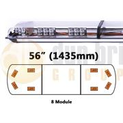 ECCO 65-00004-V 65 Series 1435mm AMBER/CLEAR 8 Module LED Lightbar with Opaque Centre R65 12/24V