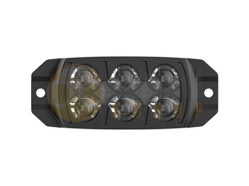 911 Signal F3S R65 6-LED Directional Warning Module - Amber