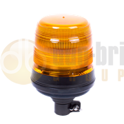 ECCO 5L4.204 400 Series Flexible DIN Pole Mount AMBER Economy LED Beacon 12/24V