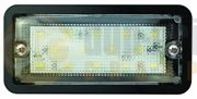 LED Autolamps 148 Series 14-LED Rectangular Interior Light Black (148mm) 24V - 185 Lumens - 148BW24