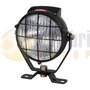 Durite Round BULB Metal Work Flood Light with Switch Handle & Grill (Cable Entry) 12/24V - 0-538-12
