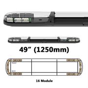 ECCO 13 Series R65 LED 16 Module Lightbar (1250mm) - Amber/Clear