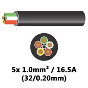 DBG 5 Core Thinwall PVC Automotive Cable 5x 32/0.20 1.0mm² 16.5A