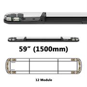 ECCO 13 Series R65 LED 12 Module Lightbar (1500mm) - Amber/Clear
