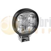 LED Autolamps 7512 Compact Round 4-LED 489lm Reverse/Work Flood Light Black 12/24V - 7512BM