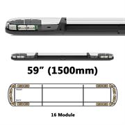 ECCO 13 Series R65 LED 16 Module Lightbar (1500mm) - Amber/Clear