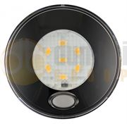 LED Autolamps 79 Series (Switched) 6-LED Round Interior Light Black (79mm) 12V - 70 Lumens - 79BWR12