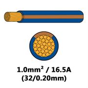 DBG Single Core Thin Wall PVC Auto Cable 1.0mm² (16.5A) - Blue/Brown