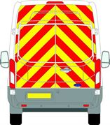 Ford Transit (2014 - Present) - BACK - Full Chevron Kit - High Roof