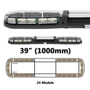 ECCO 13 Series R65 LED 24 Module Lightbar (1000mm) - Amber/Clear