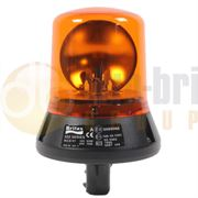 Britax 320 Series DIN Pole Mount BULB R65 Rotating Amber Beacon 12/24V - 322.00.LB / 322.00.12V / 322.00.24V