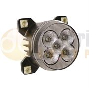 LED Global LG836 Round 4800lm 5-LED Cab/Bonnet Work Light H9 Connector 12/24V