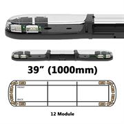 ECCO 13 Series R65 LED 12 Module Lightbar (1000mm) - Amber/Clear