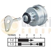 Durite 0-351-07 4 Position (OFF/IGNITION/PRE-HEAT/HEAT START) Ø16mm Ignition Switch with Key