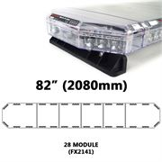 Redtronic FX2141AC Low-Profile LPFX 2080mm AMBER/CLEAR 28 Module LED Lightbar R65 12/24V