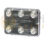 ECCO ED0004A Stick-A-LED™ Series Rectangle 6-LED Directional Warning Module - Amber