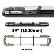 ECCO 13 Series R65 LED 16 Module Lightbar (1000mm) - Amber/Clear