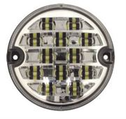 DBG Valueline LED 95mm Round REVERSE Light CLEAR Fly Lead 12/24V - 386.005