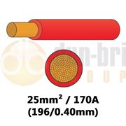DBG PVC Flexible Battery/Starter Cable 196/0.40 25mm² 170A - RED - 10m - 540.4933F/10R