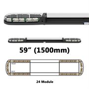 ECCO 13 Series R65 LED 24 Module Lightbar (1500mm) - Amber/Clear