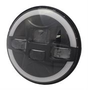 "Signal-Stat SS/27 7"" Round LED Headlight for Left Hand Traffic"