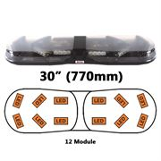 ECCO/Britax A13720.040.DV A13 Series 770mm AMBER/CLEAR 12 Module LED Lightbar R65 12/24V
