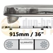 LAP Electrical LB362AC/I CLASSIC TITAN 915mm AMBER/CLEAR 2 Module LED Lightbar with Illuminated Centre R65 12/24V