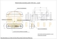 282 WAS W61 LED Front Marker Lamp Technical Drawing