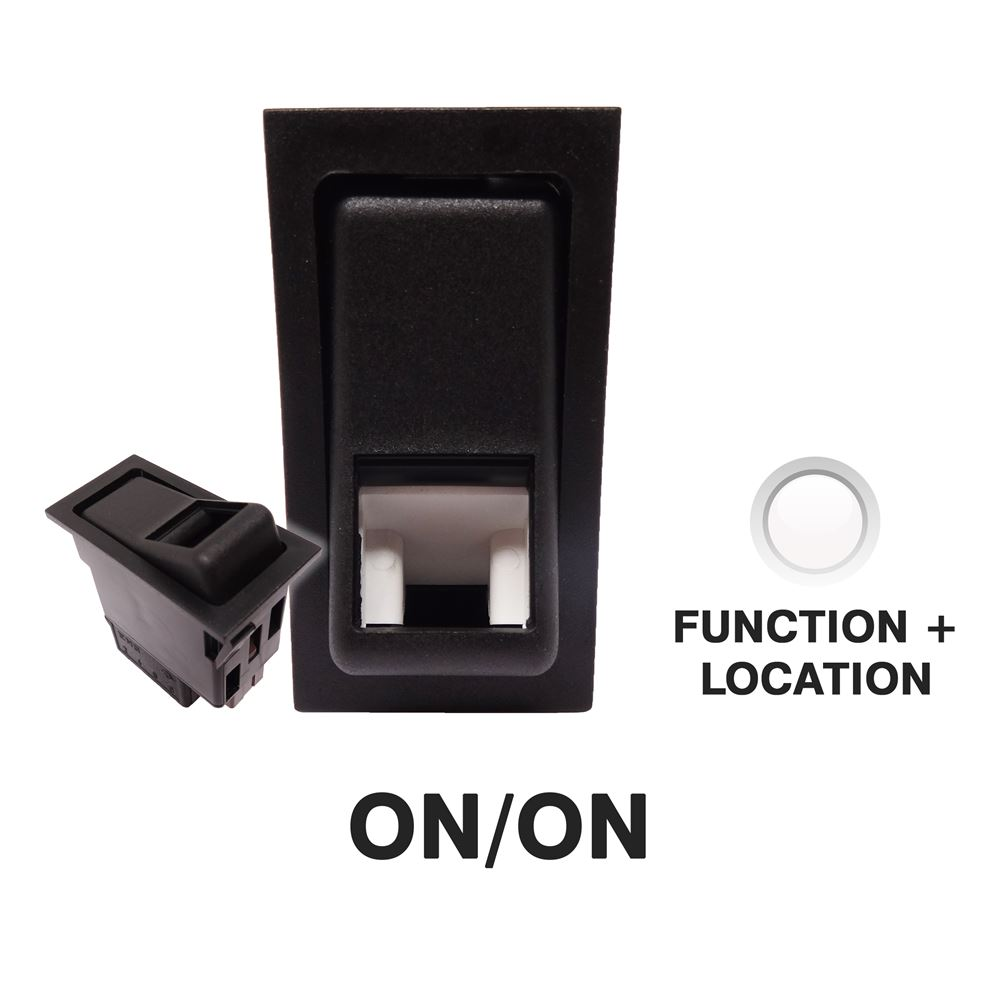 DBG 444109 SWF Style (511.109) 24V ON/ON DP Rocker Switch - BULB FUNCTION + LOCATION Light