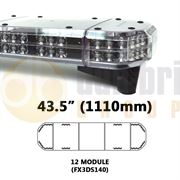 Redtronic FX3DS140AC Double-Stack DSFX 1110mm AMBER/CLEAR 24 Module LED Lightbar R65 12/24V