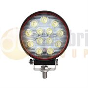 LED Autolamps Red Line Round 13-LED 2400lm Work Flood Light 12/24V - RL12039BM
