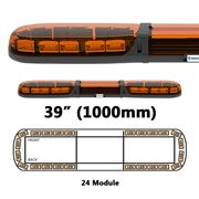 ECCO 13 Series R65 LED 24 Module Lightbar (1000mm) - Amber/Amber
