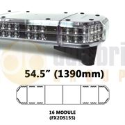 Redtronic FX2DS155AC Double-Stack DSFX 1390mm AMBER/CLEAR 32 Module LED Lightbar R65 12/24V