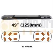 ECCO/Britax A13750.140.DV A13 Series 1250mm AMBER/CLEAR 12 Module LED Lightbar R65 12/24V