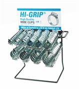 JCS® HI-GRIP Zinc Plated Steel Hose Clips Dispenser Rack - 400.0150