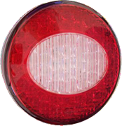 Perei/LITE-wire 700 Series (122mm) Round LED REAR COMBINATION Light Fly Lead 12/24V - CRL700LEDVV