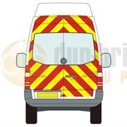 Mercedes Sprinter (2006 - Present) - BACK - Full Chevron Kit (Window Cut-Outs) - High Roof