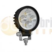 LED Autolamps 8312 Compact Round 4-LED 500lm Work Flood Light Black 12/24V - 8312BM